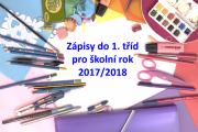 Zápis do 1. tříd 2017/2018