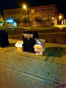 Podzemní kontejnery na separovaný odpad, Na Valích, author: Městská policie Louny