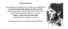 Pozvánka na vzpomínkové setkání - 105. výročí narození Kpt. Otakara Jaroše